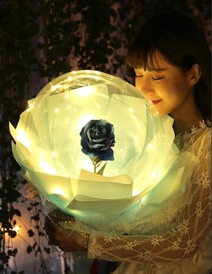 LED Luminous Balloon Rose