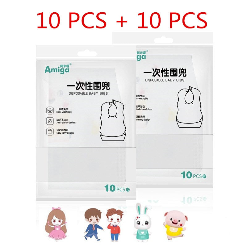 Newborn Cartoon Waterproof Bibs