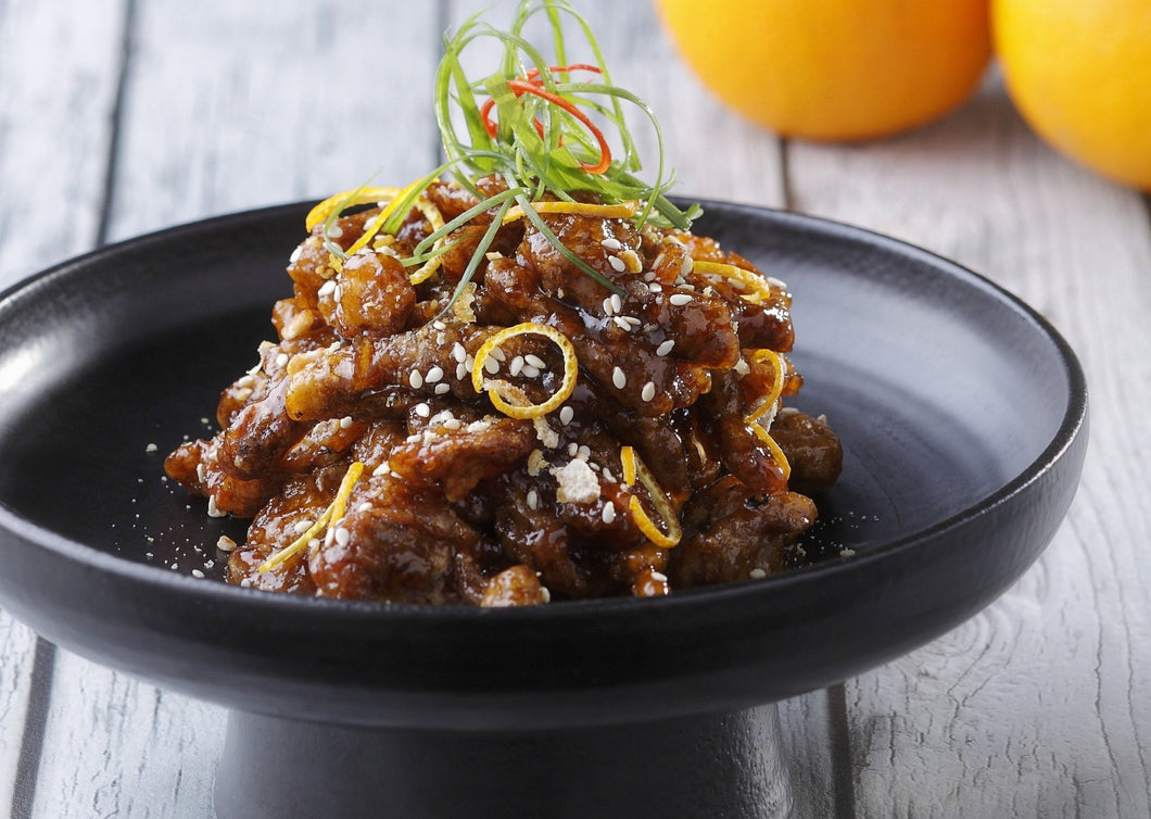 Deep-Fried Golden Sun-Dried Orange Beef