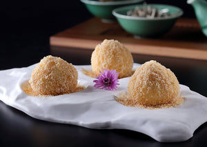 Almond and Black Sesame Dumpling with Peanuts