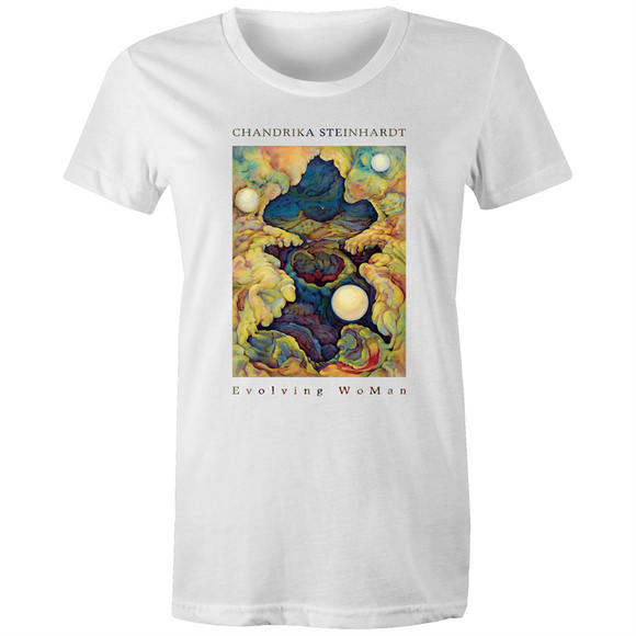 Evolving WoMan - Valley of The Moon - Women's Organic Tee