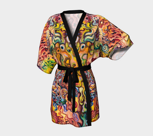 Chandrika Steinhardt - Luxurious Kimono -  Conscious Flower Power of Love - Design by Chandrika