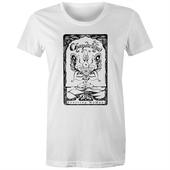 Chandrika's Symbolic Esoteric Flying Cat - Women's Organic Tee