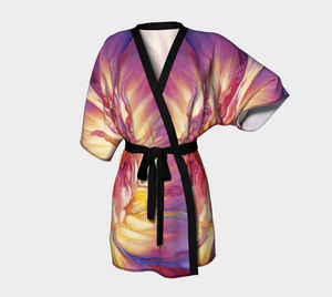 Chandrika Steinhardt - Evolving Woman - Lotus Lily Bliss - Luxurious Kimono - Design by Chandrika