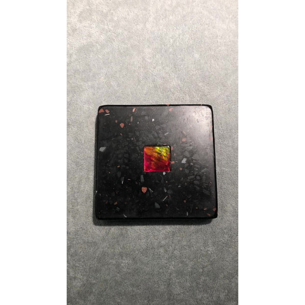 Ammolite Coaster with Ammolite Gemstone  Pn: E150111.