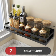 Load image into Gallery viewer, ABlack Kitchen Shelves Organizer Wall Hanging Stainless