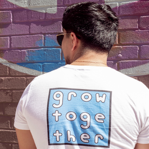 Grow Together Color Block Tee (Blue)