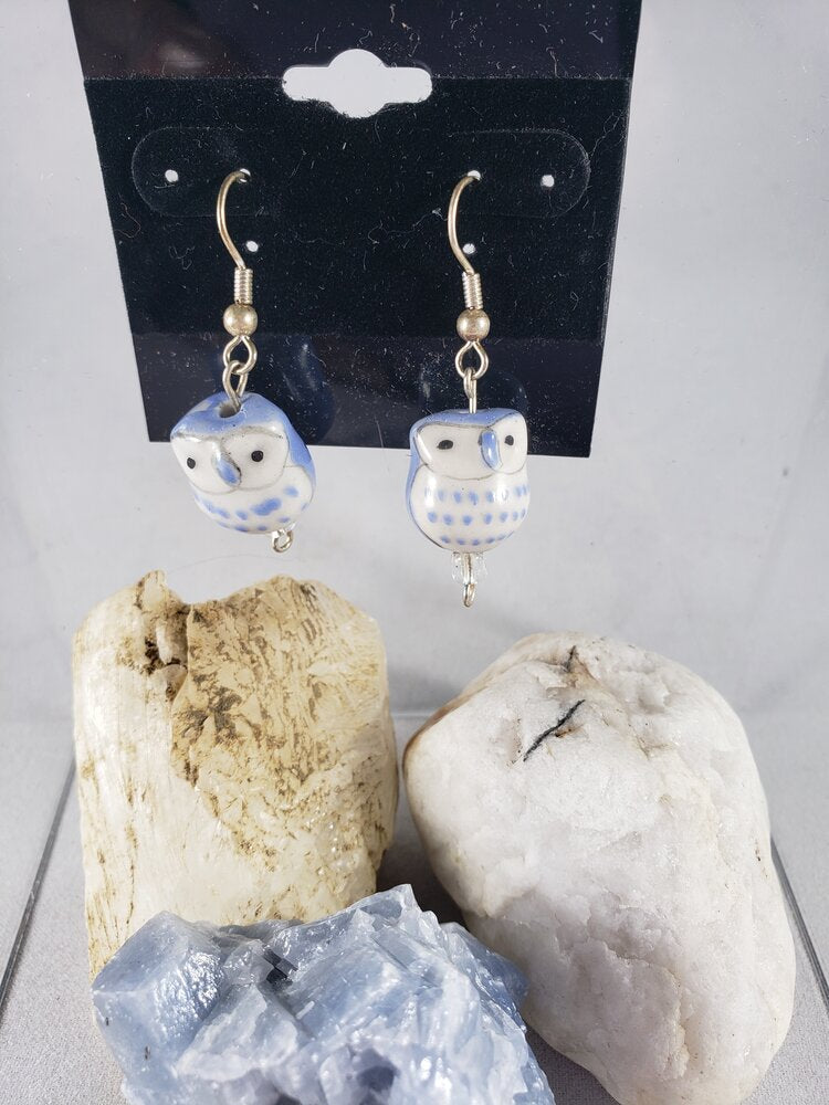 Ceramic Owl Earrings