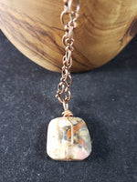 Peruvian Pink Opal on Copper