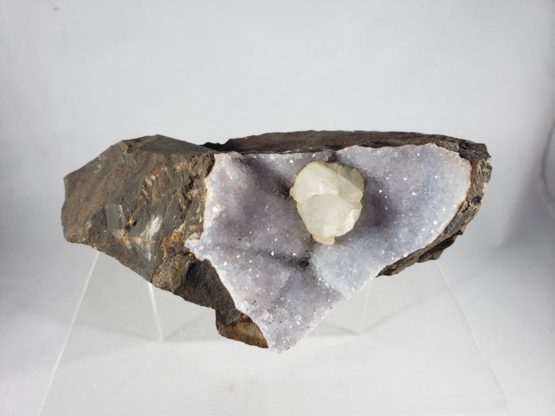 Druzy cavity with Calcite Inclusion