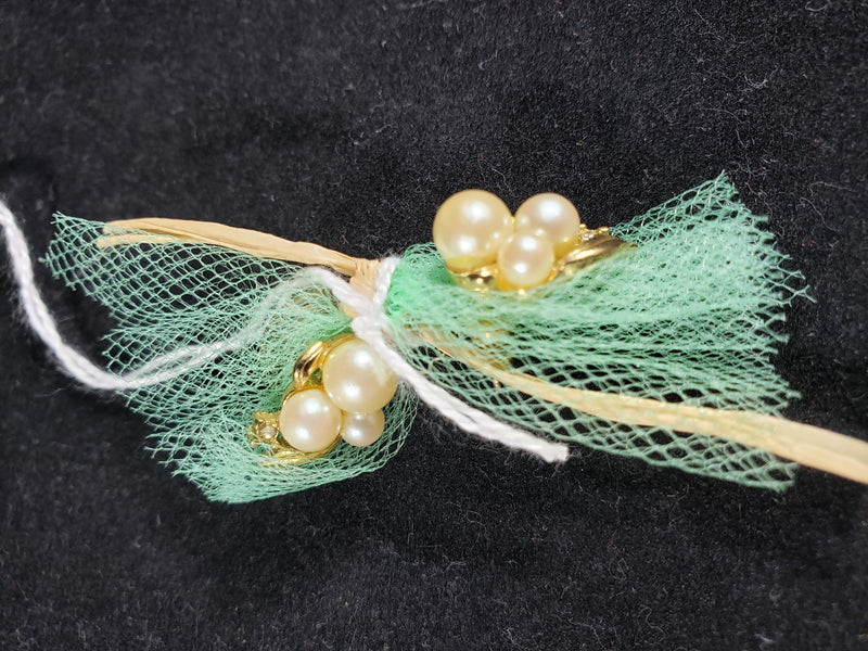 VIntage Gold and Pearl Earrings