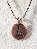 Tiny Pewter or Copper Buddha