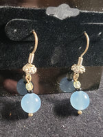 sterling Silver and Chalcedony Earrings