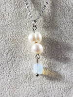 Freshwater pearls & Opalite Pendant