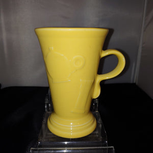 Fiesta Retired Yellow Pedestal Mug Embossed Icon