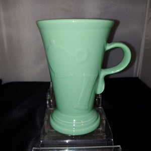 Fiestaware Retired Seamist Pedestal Mug Embossed Icon