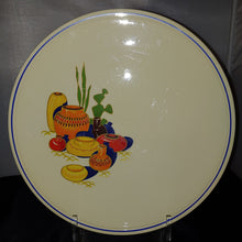 Load image into Gallery viewer, Vintage HLC Fiesta Kitchen Kraft  Cake Plate MEXICANA Blue Stripe