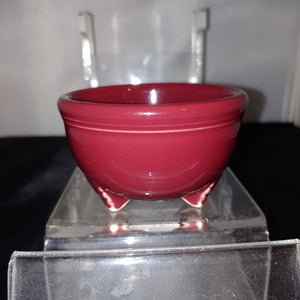 Fiestaware Cinnabar Tripod Bowl Fiesta Retired Footed Small Bowl