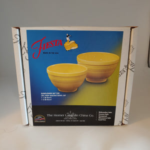 Fiesta  Sunflower 2pc Solid Colored Prep Baking Bowl Set