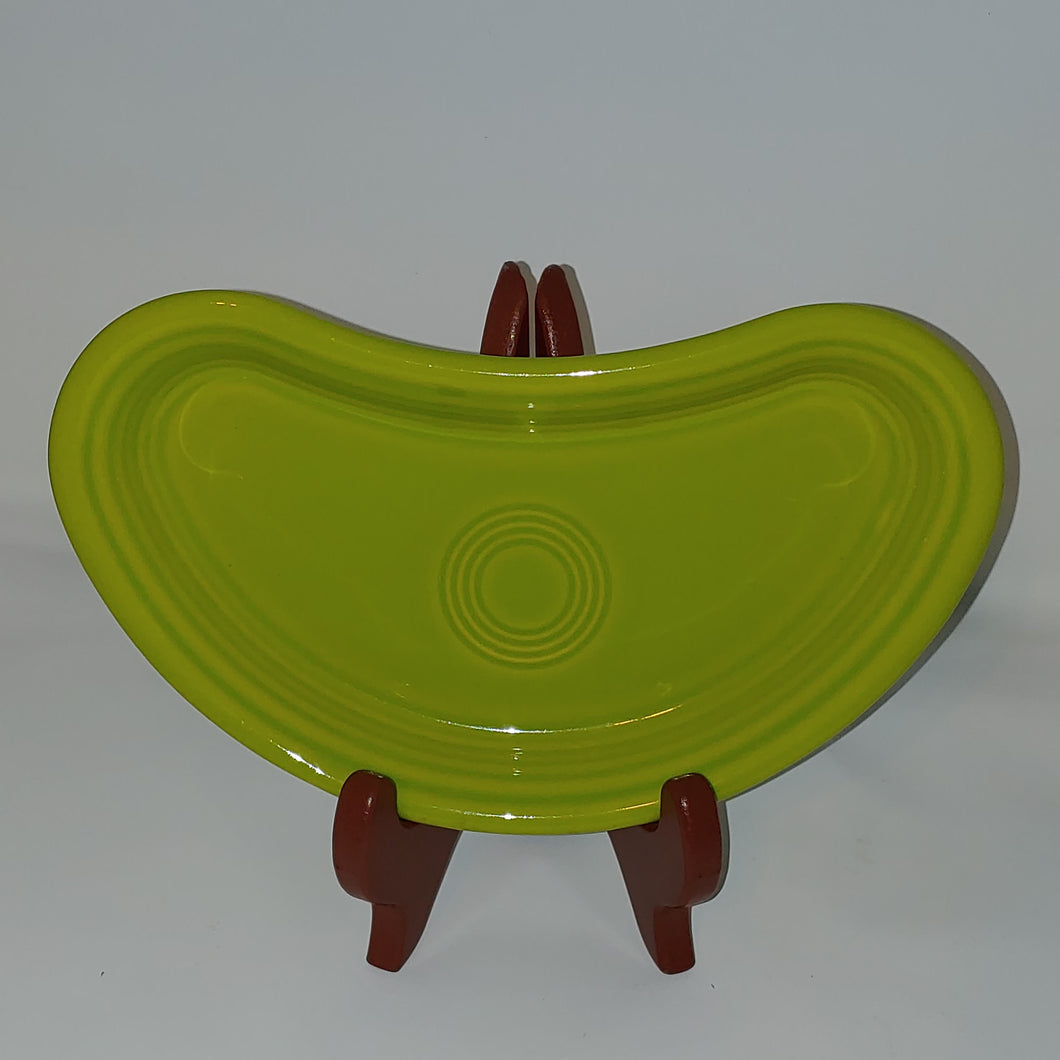 Fiesta Ware Crescent Bistro Dish Plate Tray. Color Lemongrass Retired