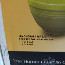 Load image into Gallery viewer, Fiesta  Lemongrass 2 pc Solid Colored Prep Bowl, Baking Bowl Set HTF