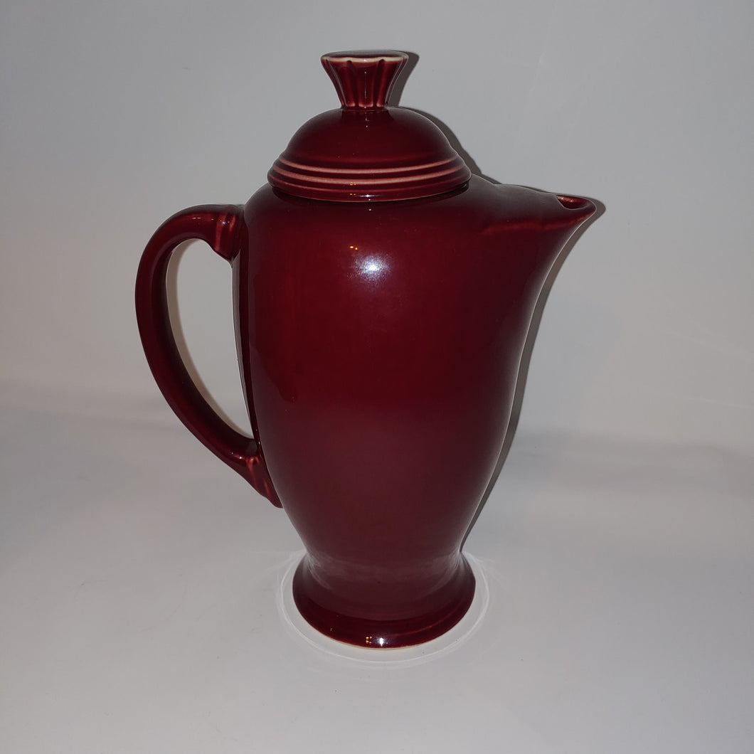 Fiesta Homer Laughlin Coffee Pot & Lid Cinnabar Retired