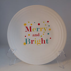 Fiestaware Merry and Bright Luncheon Plate Fiesta Christmas 9 inch plate New