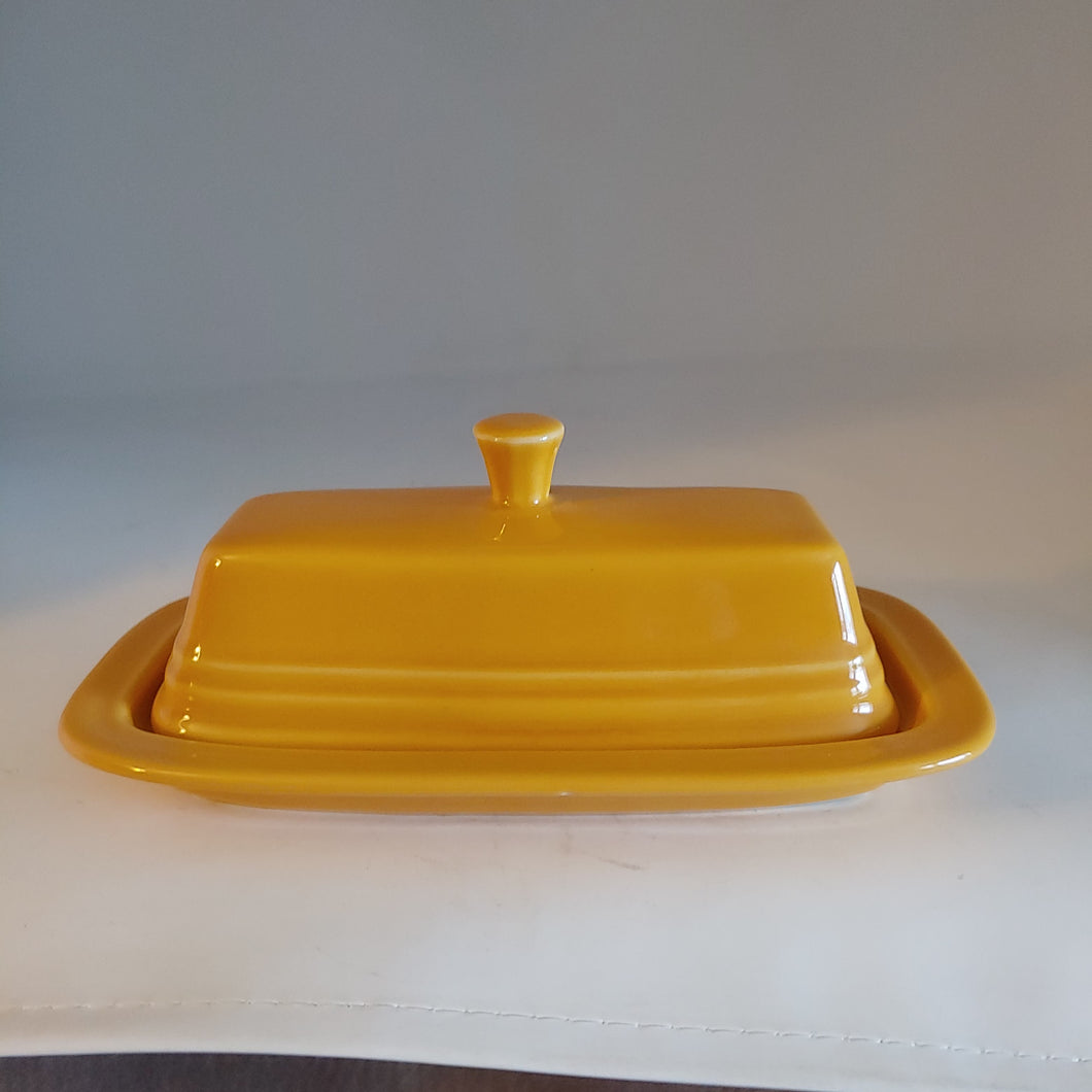 Fiesta Covered Butter Dish Marigold...Retired