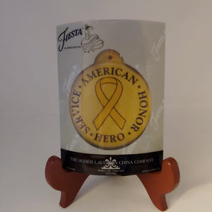 Fiestaware Ornament American Service Hero Honor