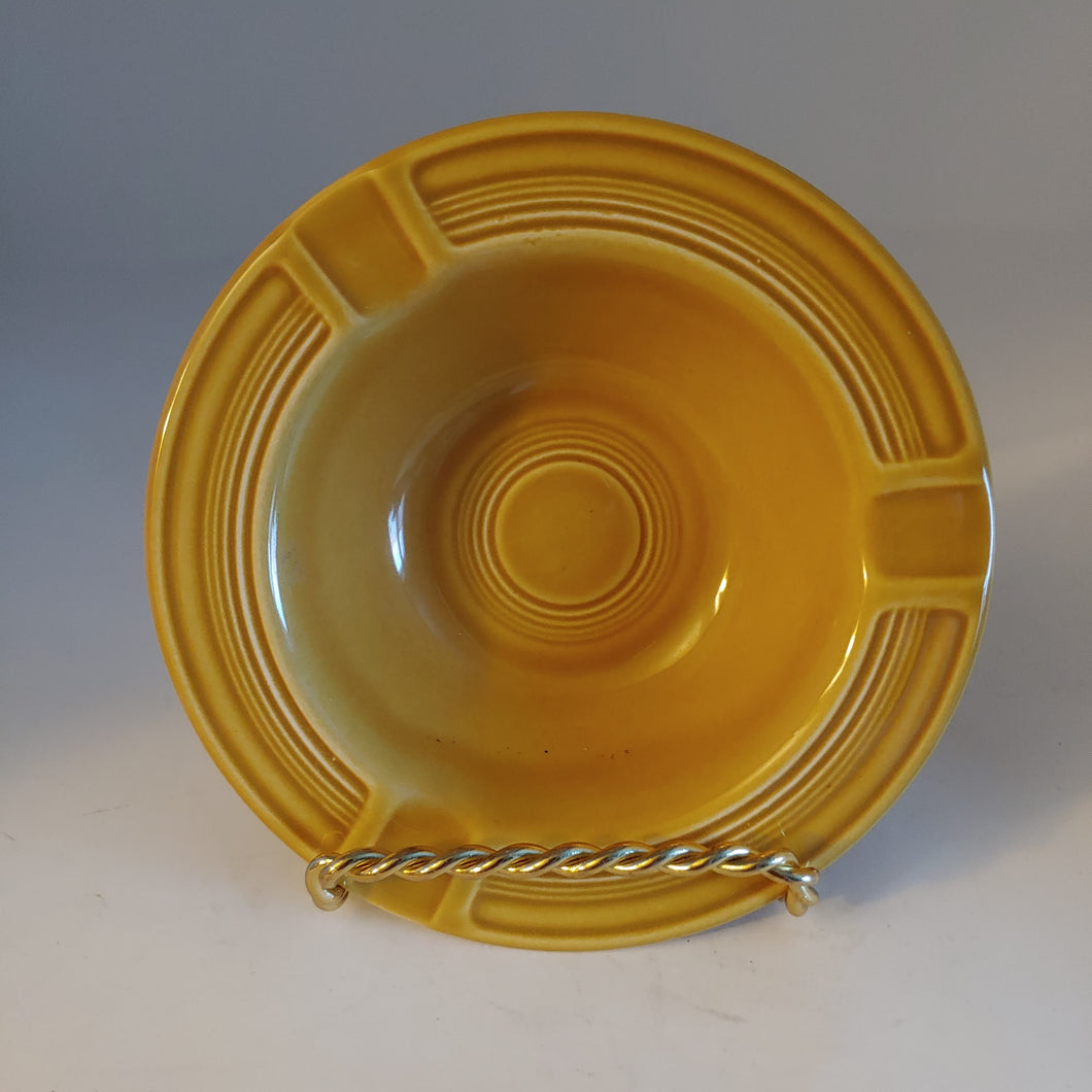 Vintage Fiesta Ironstone Yellow Gold Ashtray