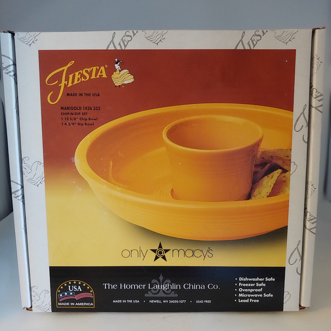"Store Exclusive MARIGOLD  Fiesta Fiestaware 2 Pc 13"" Chip +dip Set New"