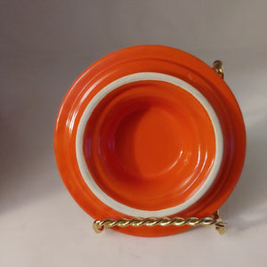 Vintage HLC Fiesta Kitchen Kraft Large Ball Cookie Jar  Red Orange
