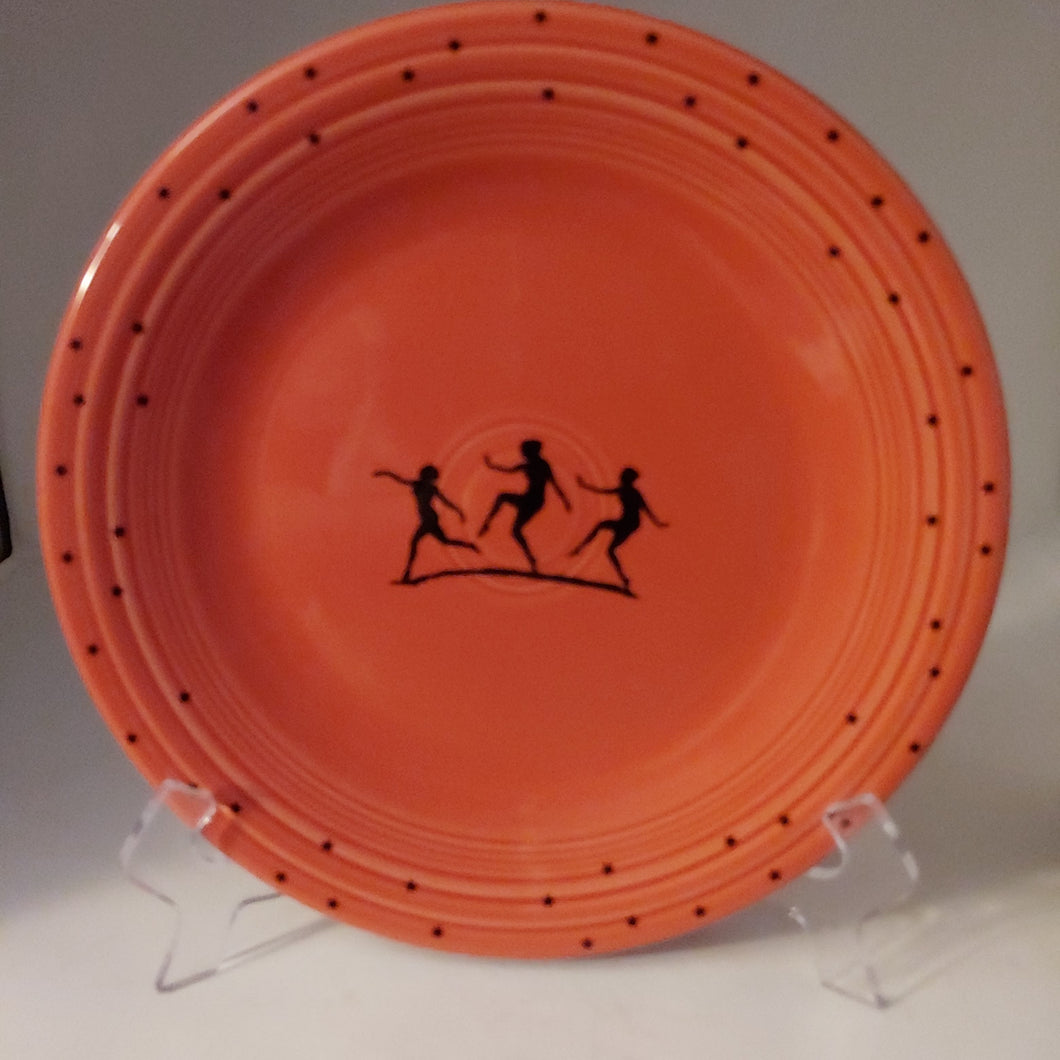 Fiesta Persimmon Dinner Plate Mystic Mega China Decal