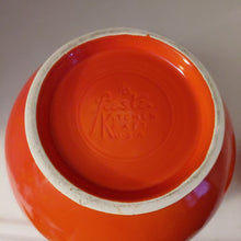 Load image into Gallery viewer, Vintage HLC Fiesta Kitchen Kraft Large Ball Cookie Jar  Red Orange