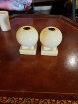 Fiesta Pale Yellow Bulb Candle Holder Set, Retired