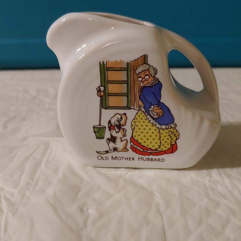 Fiesta Nursery Rhyme Old Mother Hubbard China Specialties Mini Disc  Pitcher