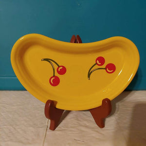 Fiestaware Exclusive HLCCA Crescent Tray Daffodil Cherries