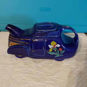 Hall Blue Deco Blossom Automobile Car Teapot