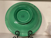 "Load image into Gallery viewer, FIESTAWARE VINTAGE FOOTED 12"" COMPORT(COMPOTE) LIGHT GREEN, EXCELLENT CONDITION"