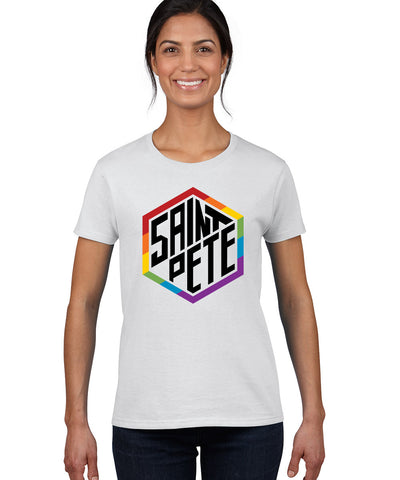 St Pete Rainbow Hexagon Shirt