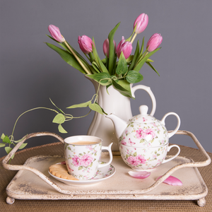 Tea for One romantic flowers - Casa da Sogno