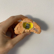Load image into Gallery viewer, Croissant Ceramic Sculpture