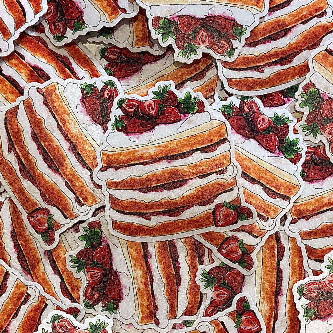 Strawberry Sponge Cake Sticker