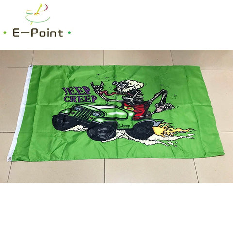Jeep Dune Flag 2x3ft / 3ft*5ft (90*150cm) Size Christmas Decorations for Home Flag Banner Gifts