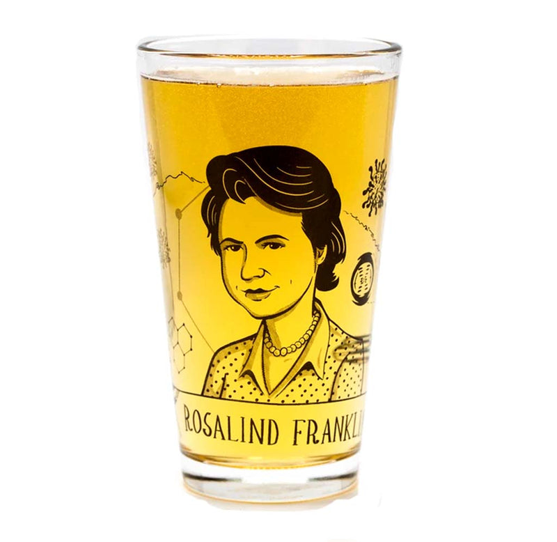 Rosalind Franklin Pint Glass