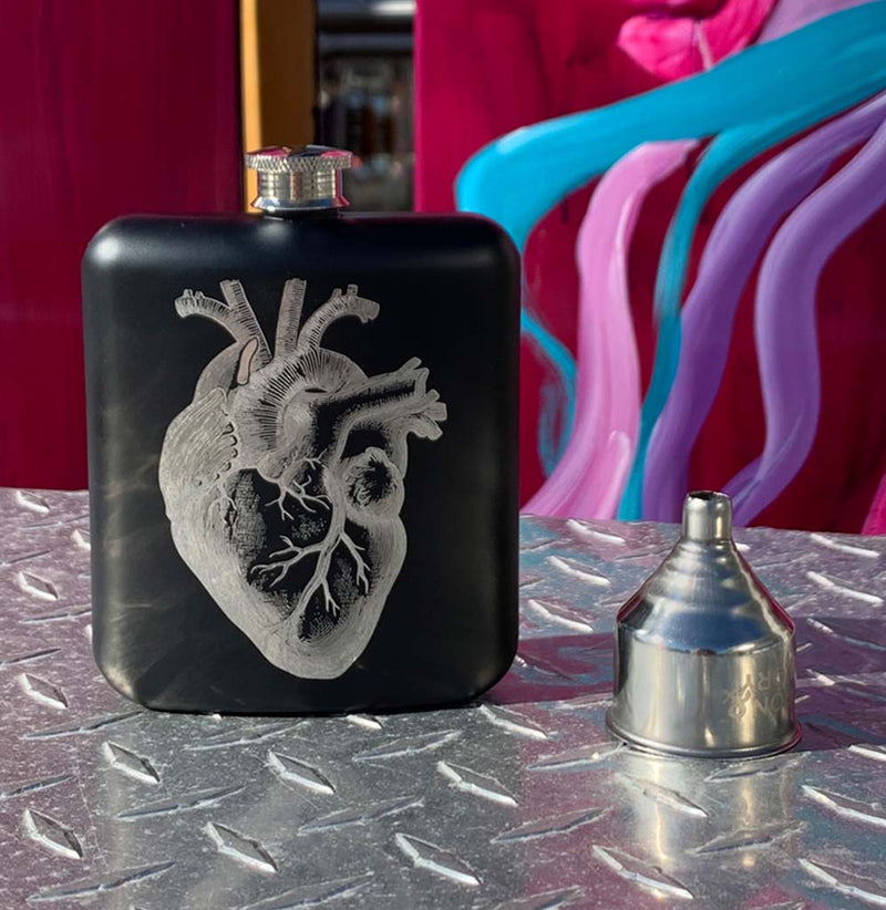 Anatomical Heart 6oz Hip Flask