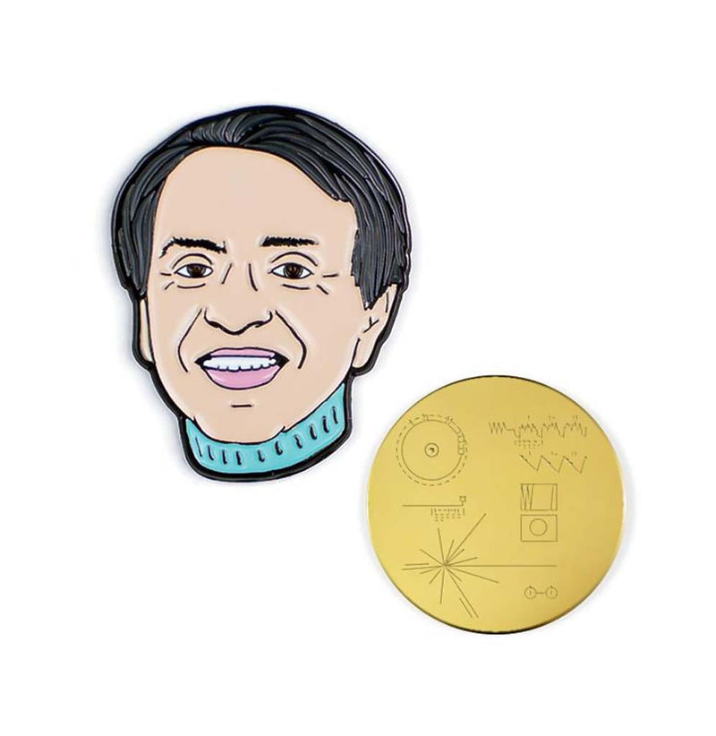 Carl Sagan and the Golden Record Enameled Pin Set