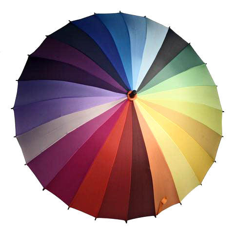 Color Wheel Umbrella
