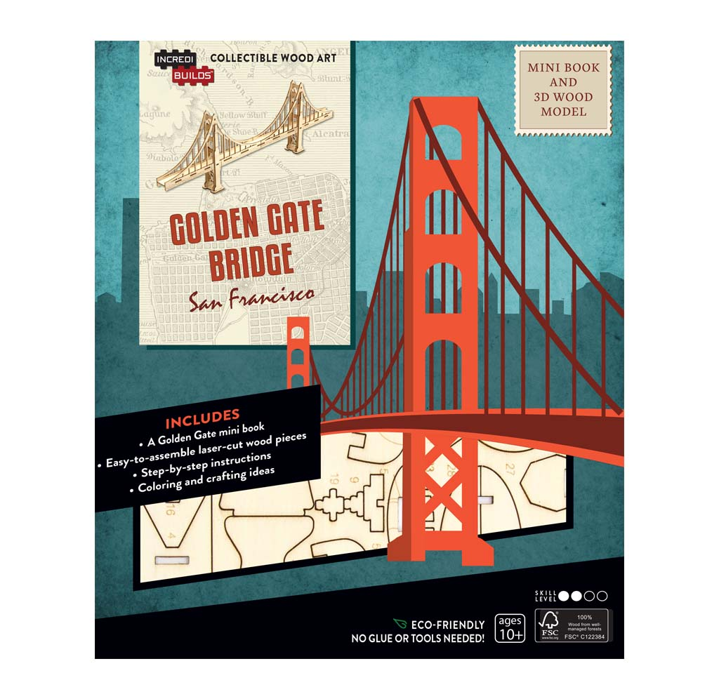 Golden Gate Bridge 3D Wood Model