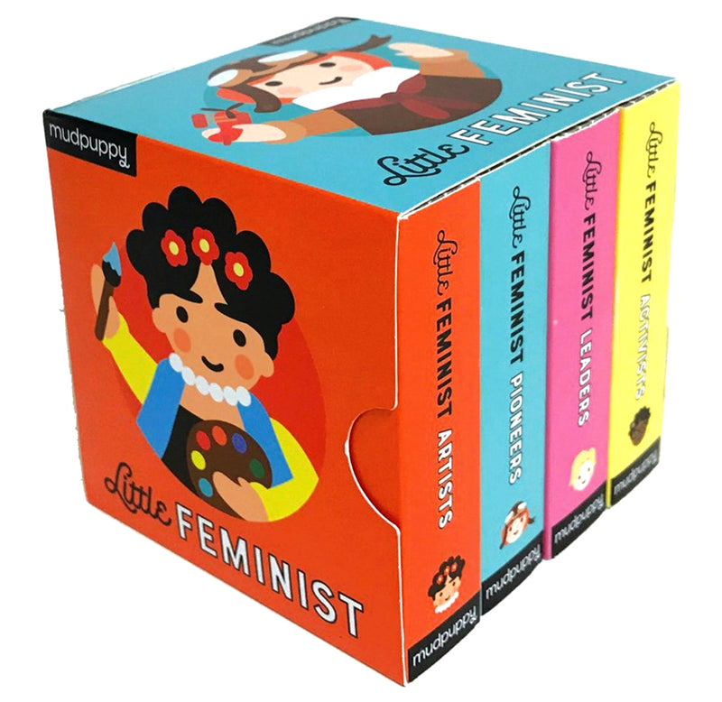 Little Feminist Board Book Set by Emily Kleinman, Illustrated by Lydia Ortiz